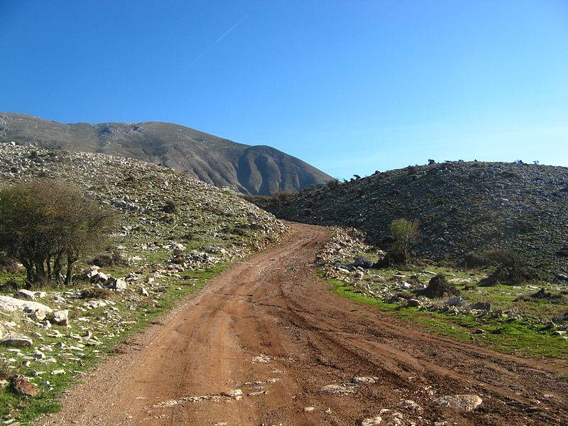 File:Mountain trail in Panachaiko mountains, Greece.jpg