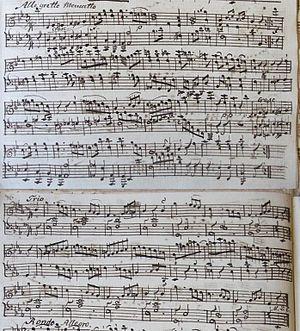 Piano Sonata in B-flat major, K. 498a - The Menuetto and Trio from this sonata