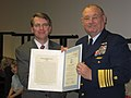 Mr. David Norquist, DHS-CFO, received a Distinguished Public Service Award from the USCG. (3117431522).jpg