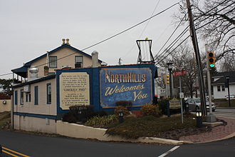 North Hills, Pennsylvania - Mt. Carmel Avenue in North Hills