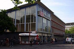 Münster Hauptbahnhof - Station hall seen from street