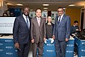 Mukhisa Kituyi, Houlin Zhao, Tedros Adhanom Ghebreyesus with Sophia - AI for Good Global Summit 2018 (41223188035).jpg