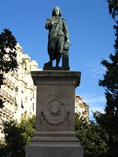 Estatua de Murillo en Madrid.