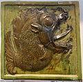 Mythical fish Makara tomb tile, China, 550-600 AD, glazed earthenware - Royal Ontario Museum - DSC04067.JPG