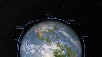 پرونده:NASA's 2011 fleet of Earth remote sensing observatories.ogv