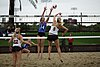 NCAA beach volleyball match at Stanford in 2016 (26448590516).jpg