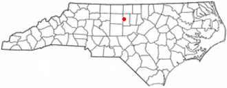 Elon, North Carolina - Image: NC Map doton Elon College