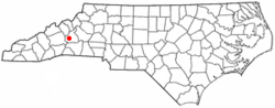 Location of Old Fort, North Carolina