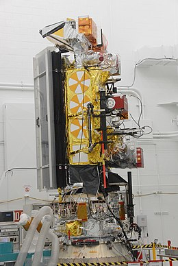 NOAA-N' satellite in Vandenberg AFB clean room.jpg