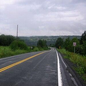 Nova Scotia Route 202 - Section of Route 202 in South Rawdon, Nova Scotia