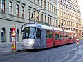 Na poříčí 4 a 2, tramvaj Škoda 14T v zastávce Náměstí Republiky.jpg