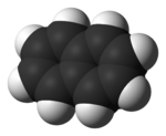 Space-filling model of naphthalene