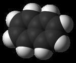 Space-filling model of naphthalene