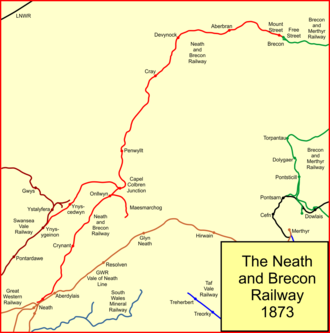 Neath and Brecon Railway - The Neath and Brecon Railway network