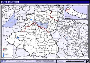 Doti District - Map of the VDCs in Doti District