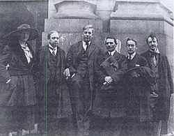 New York Courthouse, May 1918 - Eastman, Young, Eastman, Hillquit, Rogers, Dell.jpg