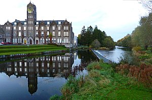 River Liffey - The River Liffey flowing through Newbridge College in Co. Kildare