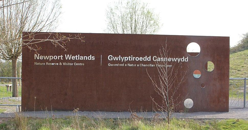 Newport Wetlands Centre Sign