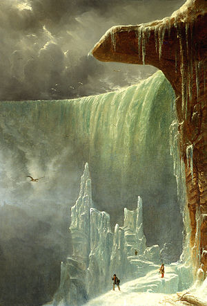 Régis François Gignoux - Image: Niagara, The Table Rock in Winter, oil on canvas painting by François Régis Gignoux, ca. 1847, United States Senate