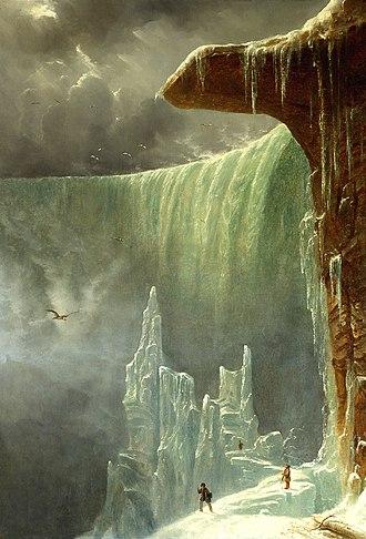 Régis François Gignoux - Image: Niagara, The Table Rock in Winter, oil on canvas painting by François Régis Gignoux, ca. 1847, United States Senate