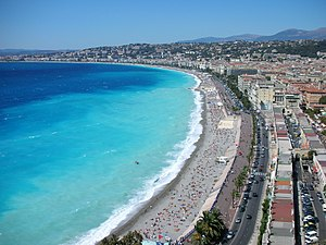 The seafront of Nice.