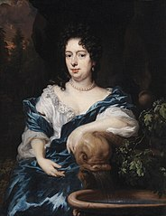 A Lady sitting by a Fountain, possibly Catharina Dierquens