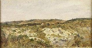 Paysage, environs d'Aix-en-Provence, Coteaux dans le midi