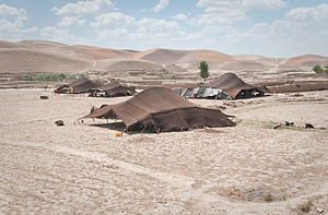 History of Afghanistan - Tents of Afghan nomads in the northern Badghis province of Afghanistan. Early peasant farming villages came into existence in Afghanistan about 7,000 years ago.