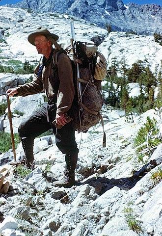 Norman Clyde - Norman Clyde in Le Conte Canyon 1945