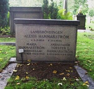 Torsten Hammarström - Torsten Hammarström's family grave at Norra begravningsplatsen in Stockholm.