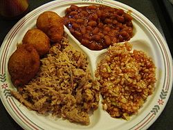 North Carolina barbecue hushpuppies baked beans red cole slaw.jpg