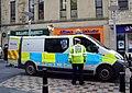 Northern Constabulary - Inverness City Centre Scotland - Vauxhall Vivaro van and Traffic Warden at Eastgate.jpg