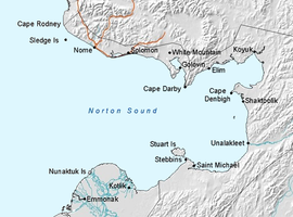 Mapa del Norton Sound