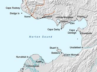 Norton Bay - Norton bay in northwest part of Norton Sound