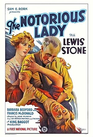 The Notorious Lady - Film poster