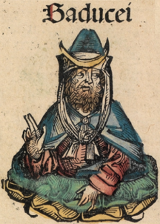 Sadducees - A Sadducee, illustrated in the 15th-century Nuremberg Chronicle