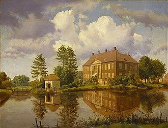 Nysø Manor - Nysø Manor with Thorvaldsen's studio, painted in 1843 by Heinrich Buntzen, Thorvaldsens Museum