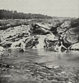 O'Sullivan, Timothy H. - Mitglied einer Expedition badet in einer warmen Quelle, vielleicht Clarence King (Zeno Fotografie).jpg