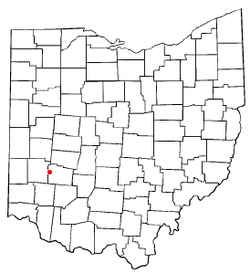 Location of Beavercreek in Ohio