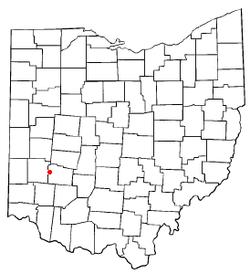 オハイオ州におけるビーバークリーク市の位置