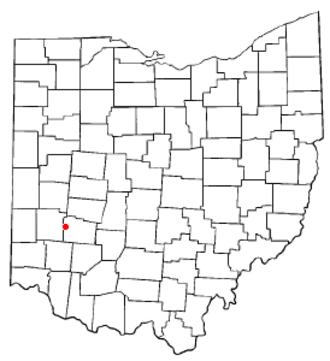 Beavercreek, Ohio - Image: OH Map doton Beavercreek