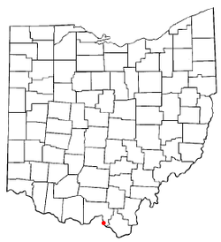 Location of Franklin Furnace, Ohio