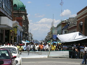 2006 Oaxaca protests - Protests in Oaxaca City centre on June 22, 2006.