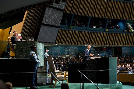 President Barack Obama addresses the United Nations General Assembly Obama United Nations address 2012.jpg