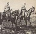 Oficerowie 3 szwadronu ułanów LP, Dunin-Brzeziński, Grabowski, Rarańcza 1915.jpg