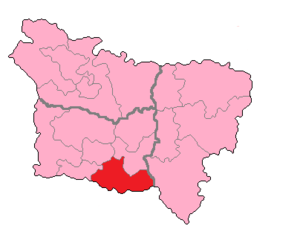 Oise's 4th constituency - Oise's 4th Constituency shown within Picardie.