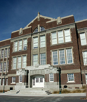 Albuquerque, New Mexico - Old Albuquerque High, built in 1914 (Victorian and Gothic styles were used in the late 19th and early 20th centuries)