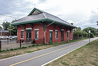 East Providence, Rhode Island - The old Riverside station on the East Bay Bike Path