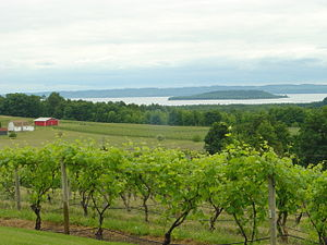 Michigan wine - A view from Chateau Chantal on Michigan's Old Mission Peninsula