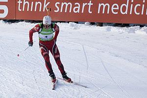 Ole Einar Bjørndalen - Bjørndalen in Kontiolahti, Finland, 12 February 2012, where he won the pursuit